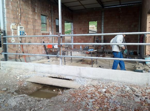 Massimo's Diary:  The work has begun on the barn in Leskoc