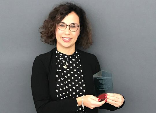 "Il premio ""Angel of the year 2019"" a Beatrice Baldaccini"