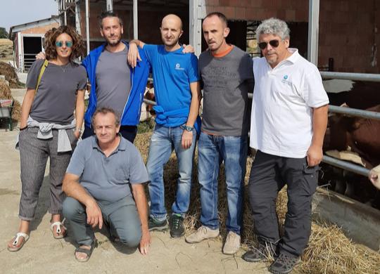 On Leskoc's farm with Giuseppe