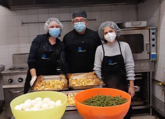 Volontari al servizio del prossimo: Letizia, Marzia e Gianluca
